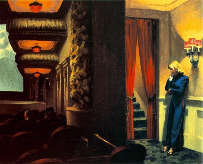 New York Movie, Edward Hopper, 1939
